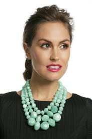 Sea Green Swirl Triple Row Necklace by kate spade new york accessories