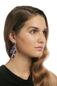Royal Blue Duchess Earring by Erickson Beamon