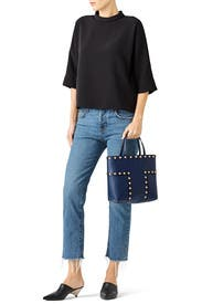 2b7a1fba7bc9 Block T Stud Mini Tote by Tory Burch Accessories for  75