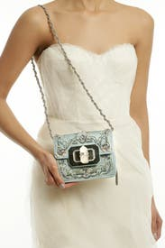 Small Phoebe Embroidered Handbag by Marchesa Handbags