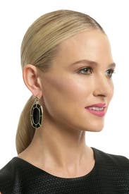 Black Della Earring by Kendra Scott