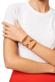 Gold Textured Cut Out Cuff by House of Harlow 1960