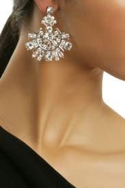 Rhodium Spark Earrings by kate spade new york accessories