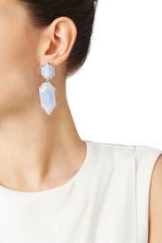 Lace Agate Perla Earrings by Kendra Scott