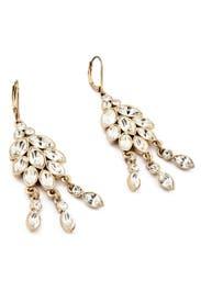 Magnolia Flower Earrings by Nicole Miller Accessories