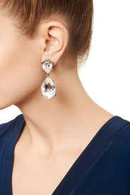 Clear Drop Earrings by Kenneth Jay Lane