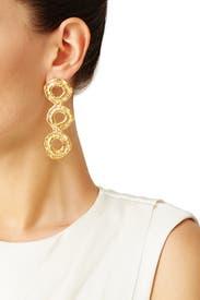 Gold Organa Earrings by Alexandra Koumba