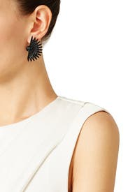 Black Beacon Stud Earrings by Lulu Frost