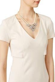 Crystal Florette Pearl Necklace by Ben-Amun