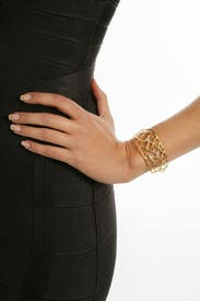 Trapped in Gold Cuff by Alexis Bittar