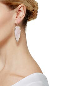 Rose Quartz Skylar Earrings by Kendra Scott
