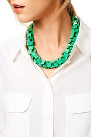 Green Rubix Necklace by Slate & Willow Accessories