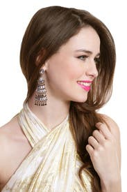 Tiered Deco Earrings by Badgley Mischka Jewelry
