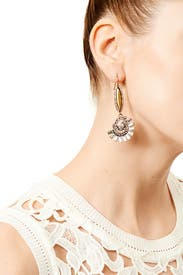 Amber Whirl Earrings by Slate & Willow Accessories