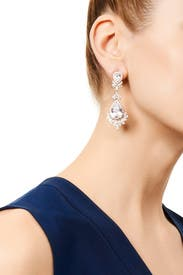 Crystal Peacock Drop Earrings by Slate & Willow Accessories
