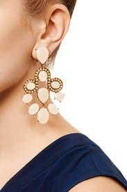 Empress Chandelier Earrings by Oscar de la Renta