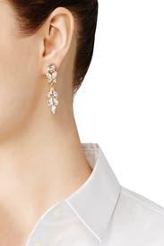 Glint Floral Drop Earrings by Ben-Amun