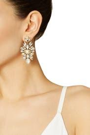 Clear Telepathic Earrings by Erickson Beamon