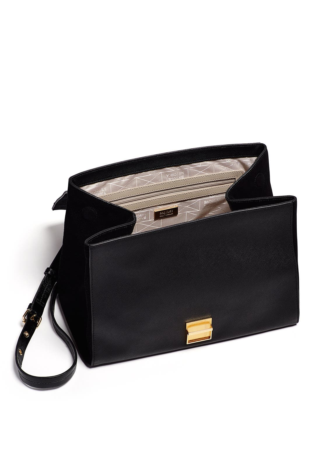 Black Mindy Handbag By Badgley Mischka Handbags For 75 Rent The Runway