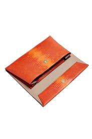 Orange Lizard Karima Clutch by Christian Siriano Handbags