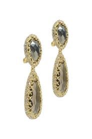 Pyrite Crystal Cave Earrings by Alexis Bittar