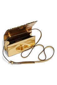 Gold Make Your Mark Bag by Moschino Accessories