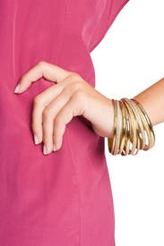 Gold Bangle Stack by AV Max