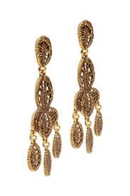 Bandra Earrings by Oscar de la Renta