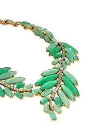 Marquise Leaf Necklace by Oscar de la Renta
