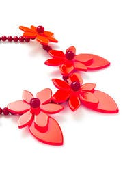Red Lovely Lilies Statement Necklace by kate spade new york accessories