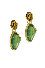 Emerald Garden Party Earring by Erickson Beamon