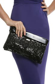 Black Agathe Clutch by kate spade new york accessories