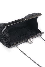 Black Mesh Glam Clutch by Whiting & Davis