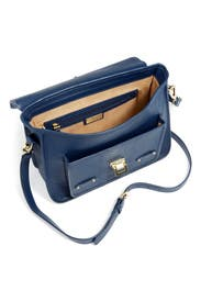 Navy Python Buckle Bag by Gigi New York