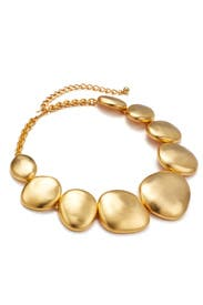 Gold Disk Necklace by Kenneth Jay Lane
