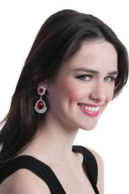 Royal Ruby Earrings by Ciner