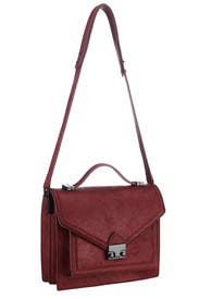 Maroon Medium Rider Bag by Loeffler Randall
