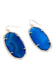 Danielle Blue Agate Earrings by Kendra Scott