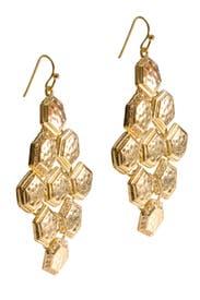 Honeycomb Chandelier Earrings by Cara Accessories