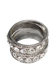 Smoky Mirror Bangle set by Chamak by Priya Kakkar