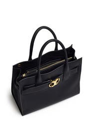 2bcb214557f Gemini Link Leather Tote by Tory Burch Accessories for  90