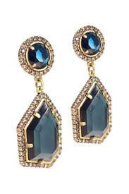 Blue Ice Crystal Earrings by Badgley Mischka Jewelry