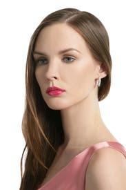 Crystal Hoop Love Earrings by Crislu