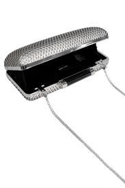 Silver Boombox Clutch by Diane von Furstenberg Handbags