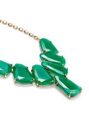 Green Stone Bib Necklace by Kendra Scott